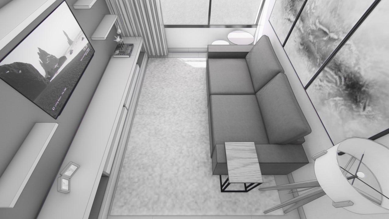 Sala virtual em 3D