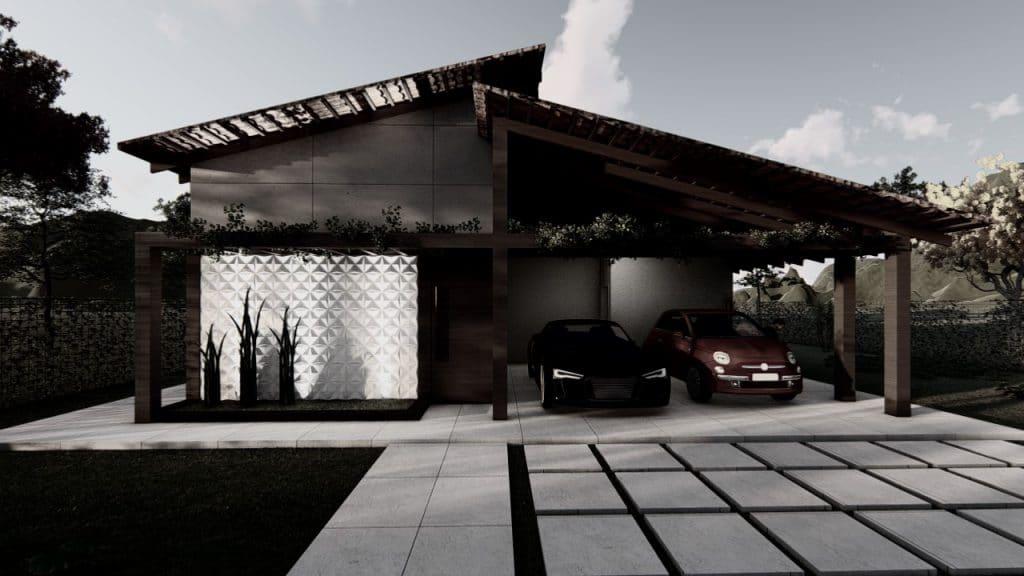 Casa com energia fotovoltaica