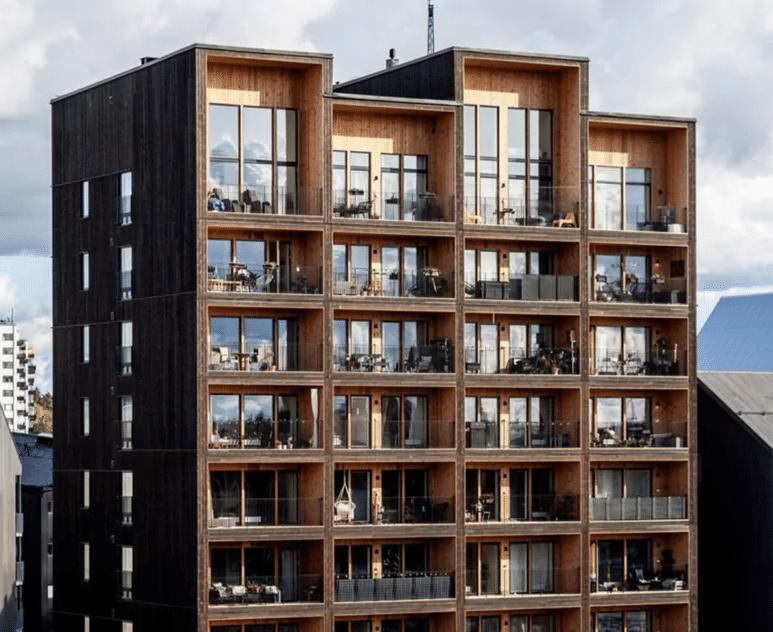 edifício em madeira